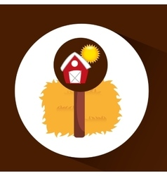 farrm countryside thatch design vector image