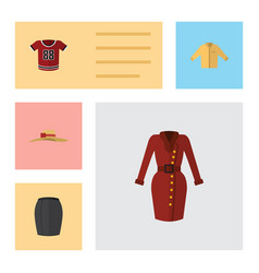Flat icon clothes set of clothes stylish apparel vector