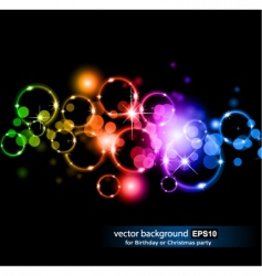 glowing circles vector image vector image