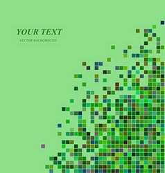 Green digital art background template design vector