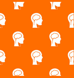 head with brain pattern seamless vector image vector image