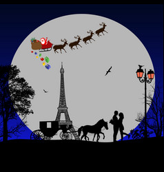 Holiday background on paris vector