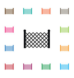Isolated lattice icon gate element can be vector