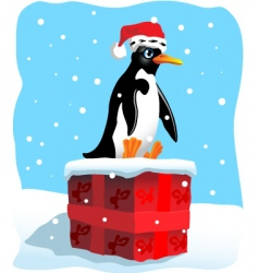 penguin sitting vector image