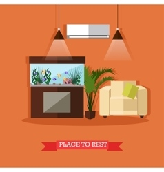 Place to rest home vector