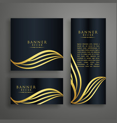 premium invitation card design concept with vector image vector image