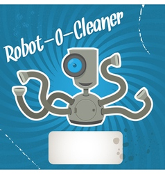 robot cleaner vector image