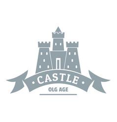 Royal castle logo simple gray style vector