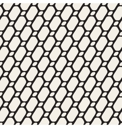Seamless Black and White Diagonal Line Grid vector image vector image