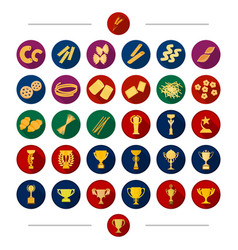 Sport attribute bowl and other web icon in vector