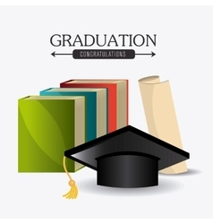 Student graduation design vector image