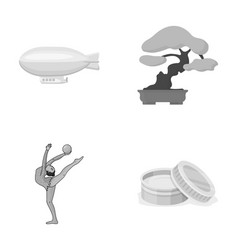 Tourism sport cosmetologyand other monochrome vector
