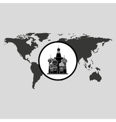 Traveling russia monument design graphic vector