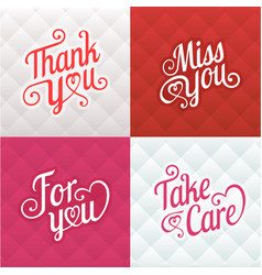 typography greeting card vector image