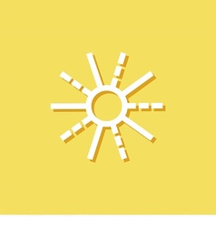 Weather forecast icon with sun vector