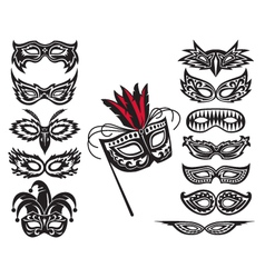 mask collection vector image