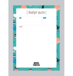 Scandinavian weekly and daily planner vector