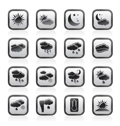 Weather and meteorology icons vector