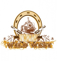 Wild west vignette ii vector