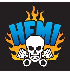 Hemi skull and pistons vector