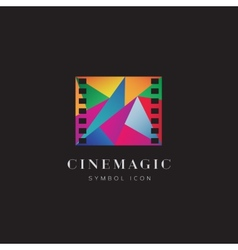 Cinema magic abstract concept symbol icon or logo vector