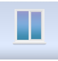 Closed white plastic window vector