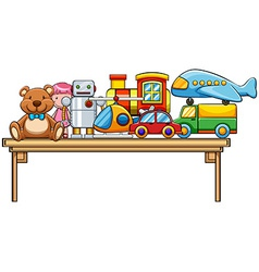 Toys and table vector image