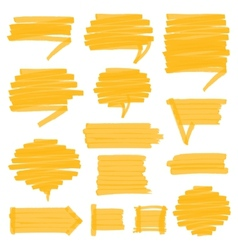 Highlighter shaded speech bubbles design elements vector