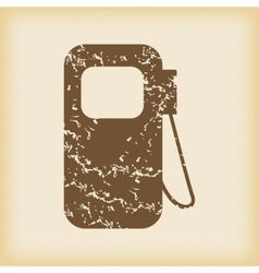 Grungy gas station icon vector