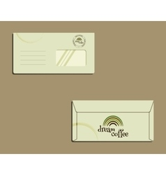 Brand identity template envelope front and back vector