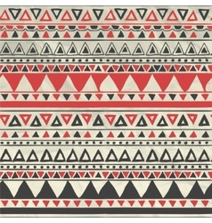 Aztec tribal seamless pattern on crumpled vector