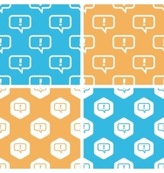 Answer message pattern set colored vector