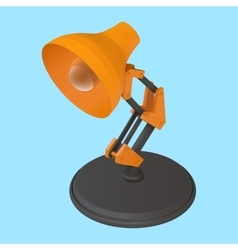 Reading desk lamp isometric vector
