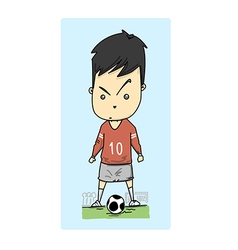 Man play football vector