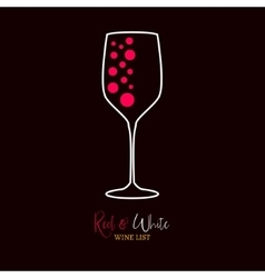 Wine list red and white menu design template Wine vector image
