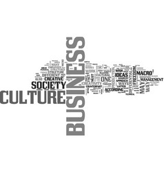 A renewed view of the modern business culture vector