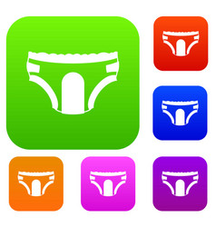 Adult diapers set collection vector
