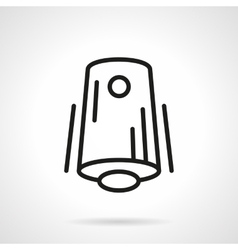 Air freshener black line icon vector image