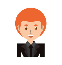 Businessman profile cartoon vector