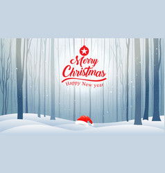 christmas and happy new year typography xmas vector image