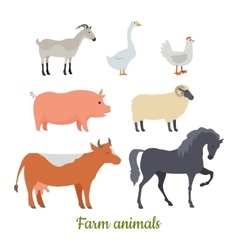 Farm Animals Set Stickers for Children vector image vector image
