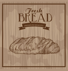 Fresh bread hand drawn food products premium vector