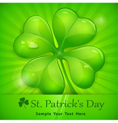 green patricks day sticker vector image vector image