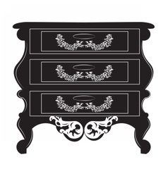 Imperial baroque chest table vector