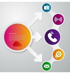 Infographics circle arrow vector