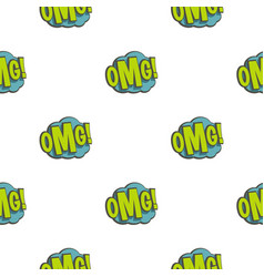 Omg comic book explosion pattern seamless vector