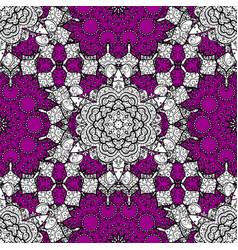 Oriental ornament seamless pattern on magenta vector