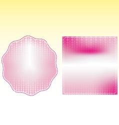 Pink frame box wedding vector