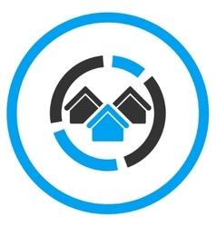 Realty diagram circled icon vector