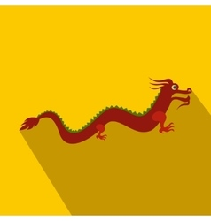Red chinese dragon icon flat style vector